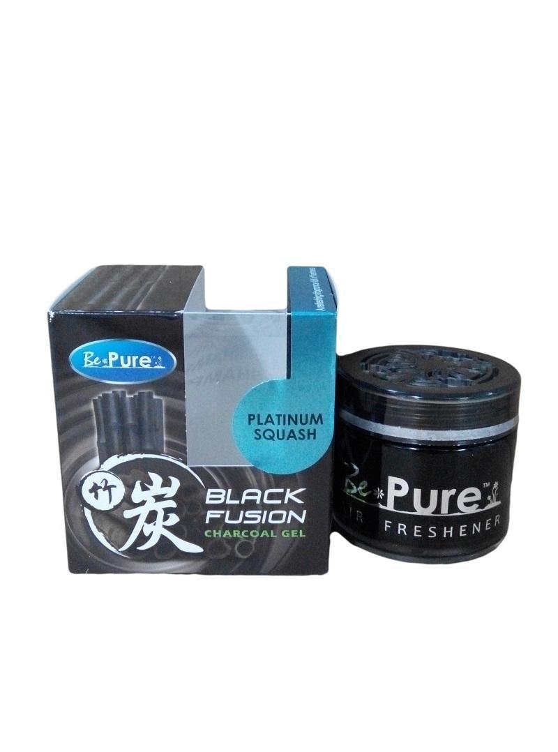 BE PURE Black Fushion Charcoal Gel Car/Office/Home Perfume Air Freshener