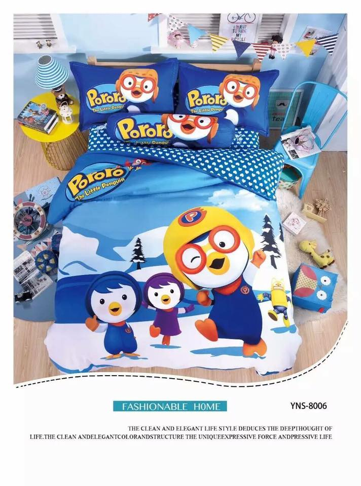 6 in 1 Set Quality 800TC Poporo Bedding Bed Sheet Queen King Size