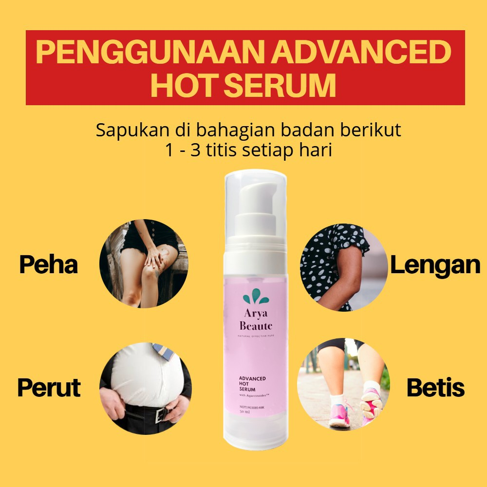 Agarwood Hot Serum for Weight Loss, Fat Burning, Slimming & Anti-Cellulite - Natural Ingredients with KKM Approval