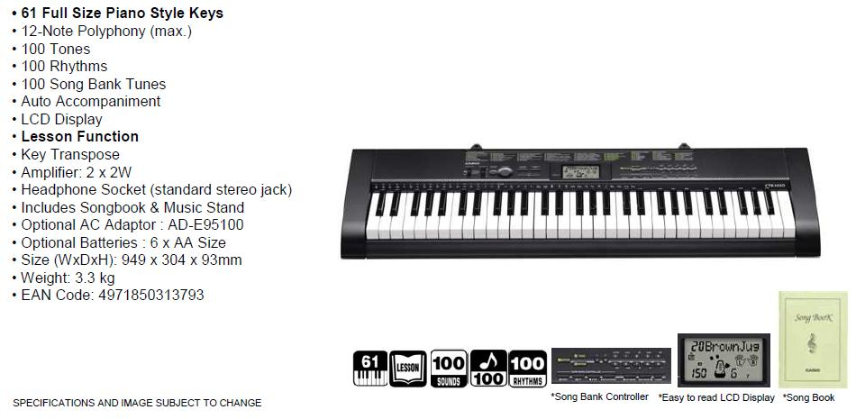 CASIO CTK-1100 Keyboard