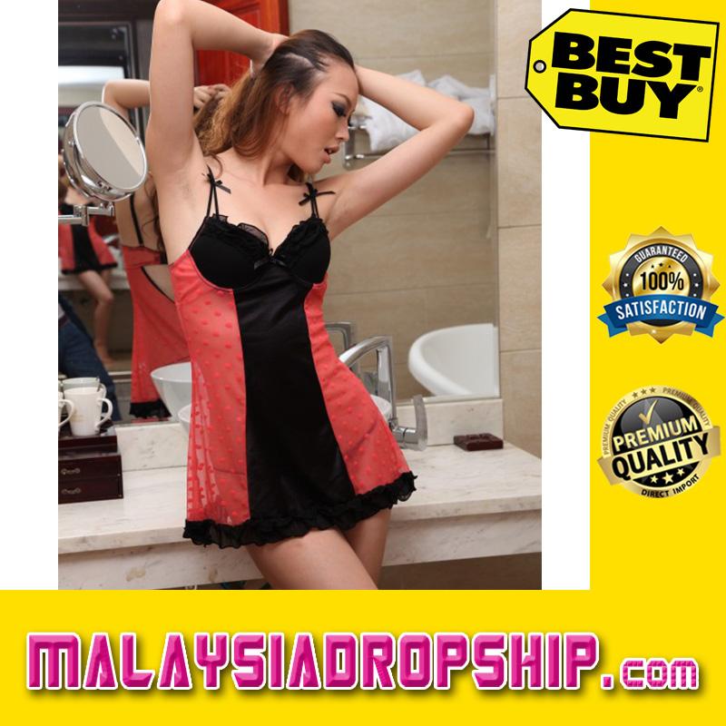 Sexy Bra Cup Babydoll - YBF8356R [F]