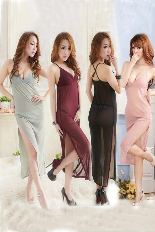 Plain Long Dress [F]