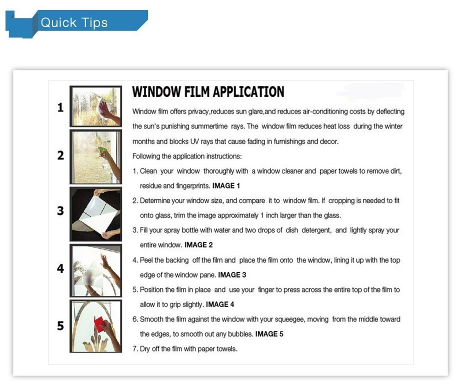 SELF ADHESIVE WINDOW FILM STICKER WA0089